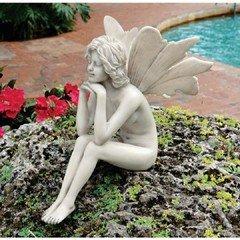 Design Toscano - Pondering Garden Fairy Statue