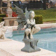 Design Toscano Celtic Fairy Perilous Perch Garden Statue