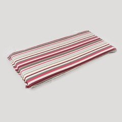 Greenfingers 3 Seater Bench Cushion in Candy Stripes - 120cm
