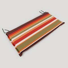Greenfingers Wide Bench Cushion in Autumn Hues - 106cm