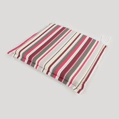 Greenfingers Square Seat Cushion in Candy Stripes x 2 - 51.5 x 50.5cm