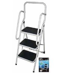 3 Step Ladder with Hand Rail