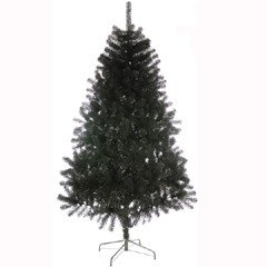 Plain Artificial Christmas Tree Black