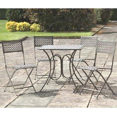 Heritage Steel 4 Folding Chair 80cm Square Tea Set