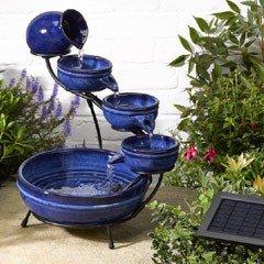 Smart Solar Neptune Ceramic Cascade Solar Water Feature