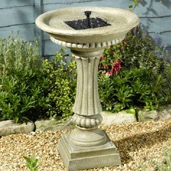 Smart Solar Winchester Solar Bird Bath/ Water Feature - Aged Granite