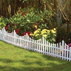 Garden Fence Panels - White Pack of 6
