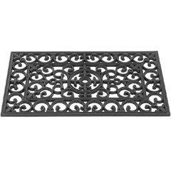 Image of Gardman Rubber Cast Iron Design Doormat - 75 x 45cm