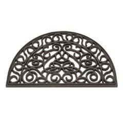 Gardman Rubber Cast Iron Design Half Moon Doormat