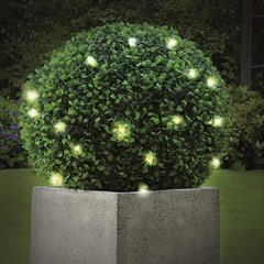 Battery Powered Gardman Pre-Lit Topiary Ball - 30cm