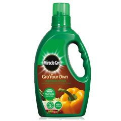 Miracle-Gro Gro Your Own Veg & Fruit Concentrated Liquid Plant Food 1 Litre