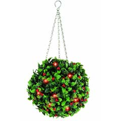 Gardman Pre-lit 20 LED Holly Effect Topiary Ball