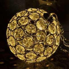 Aria Solar Hanging Crystal Ball