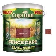 Cuprinol Less Mess Fence Care 6 Litre - Autumn Red