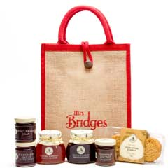 Mrs Bridges Christmas Hamper Selection in Jute Bag
