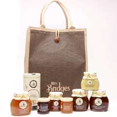 Mrs Bridges Hamper Selection in Jute Bag