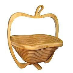 Bamboo Folding Bowl - Apple Shaped