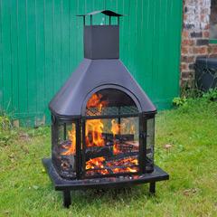 Cinder Fireplace