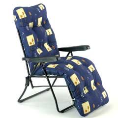Sun Lounger Relaxer - Blue Design