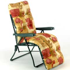 Sun Lounger Relaxer - Red Design