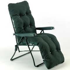 Sun Lounger Relaxer - Dark Green Design