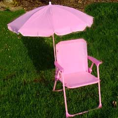 Kids Chair with Parasol - Pink