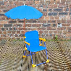Kids Chair with Parasol - Blue