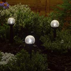 Smart Solar Crystal Globe Stake Solar Lights - Set of 6