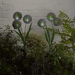Smart Solar Allium Triple Head Stake Solar Lights