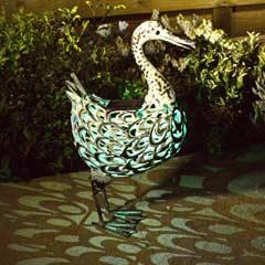 Smart Solar Ornamental Metal Duck Solar Light
