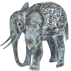Smart Solar Ornamental Metal Elephant  Solar Light