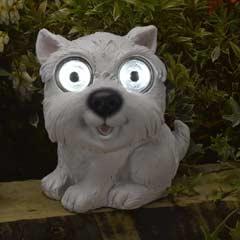 Smart Solar Bright Eyed Scottie Dog Solar Light