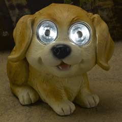 Smart Solar Bright Eyed Golden Labrador Solar Light