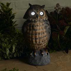 Smart Solar Owl Solar Light with Moving Head