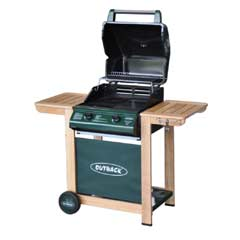 Outback Trooper Select 2 Burner Gas BBQ Includes Free Cover and Regulator