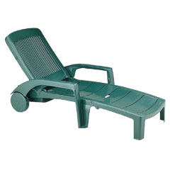 Grosfillex Fidji Sun Lounger Amazon Green