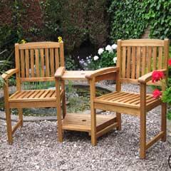 Rondeau Leisure Kent Acacia 178cm Companion Seat