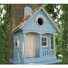 Deco Pak Decorative Bird House - Powder Blue Cottage