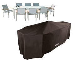 Bosmere Storm Black Rectangular Patio Set Cover - 8 Seater