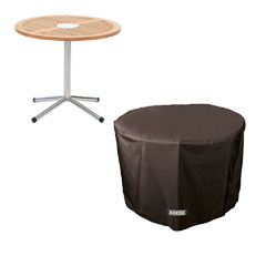 Bosmere Storm Black Circular Table Cover - 4 seat