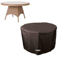 Bosmere Storm Black Circular Table Cover - 4/6 seat