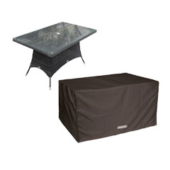 Bosmere Storm Black Rectangular Table Cover - 6 seat