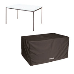 Bosmere Storm Black Rectangular Table Cover - 8 seat - 196cm x 114cm