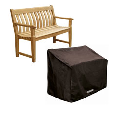 Bosmere Storm Black Bench Seat Cover - 2 seat