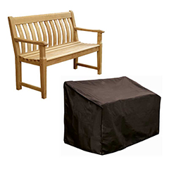 Bosmere Storm Black Bench Seat Cover - 3 seat