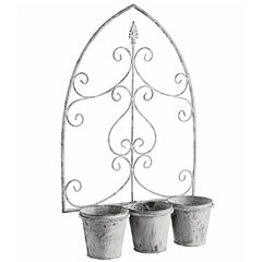 Gardman Loire Triple Pot Wall Planter