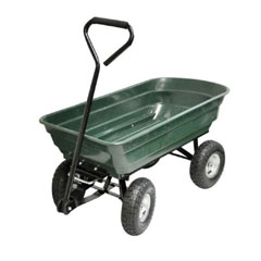 Kingfisher 75 Litre 4 Wheel Tipping Action Garden Cart
