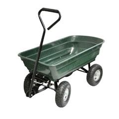 Kingfisher 4 Wheel Tipping Action Garden Cart - 75Ltr
