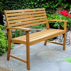 Rondeau Leisure Kent Acacia 2 Seater Bench