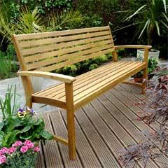 Rondeau Leisure Kent Acacia 3 Seater Bench